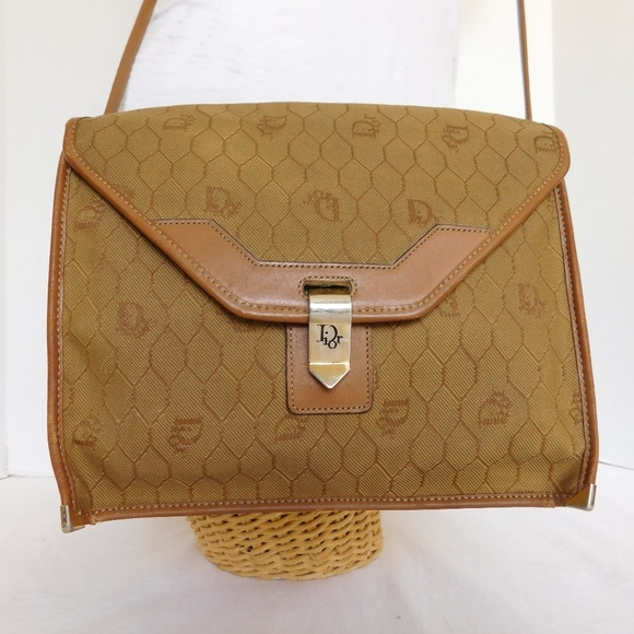 8303ee9b2e0a Dior Handbags - VINTAGE CHRISTIAN DIOR TAN CANVAS CROSSBODY